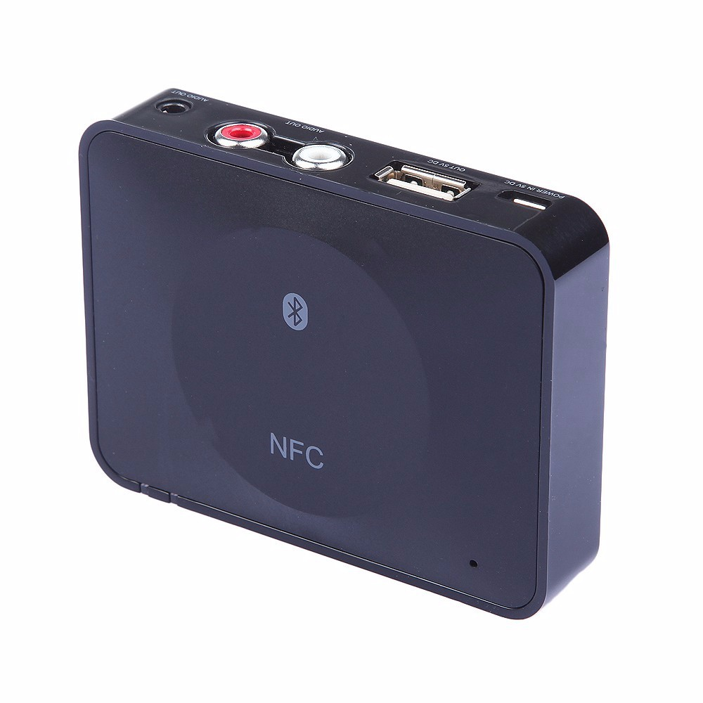 NFC Bluetooth Wireless Desktop Stereo Audio Music Receiver DVD Player Car Speaker USB Adapter  (2)