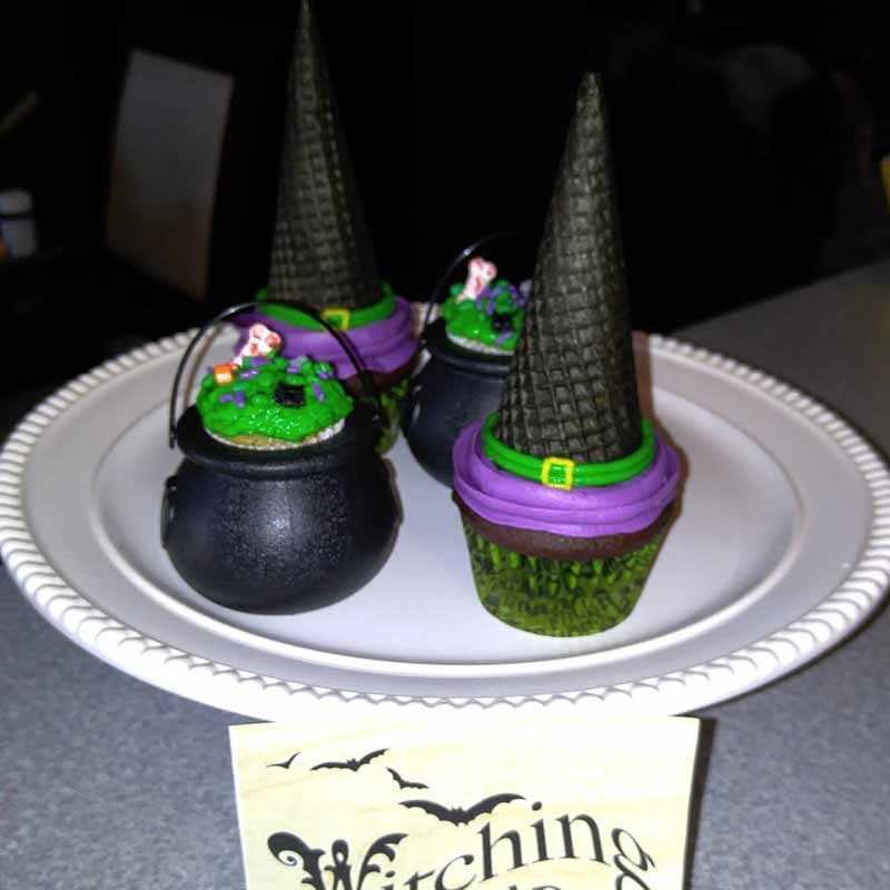 6 pcs cupcake de Chocolate caixa de Doces Chaleiras para o Dia Das Bruxas Dia de st. Patrick crianças Harry Potter tema Decoração aniversário suprimentos