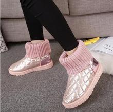 NOUVEAU femmes Bottes Fourrure Chaude Coton Chaussures D'hiver Haute Qualité Confortable femmes de Doux Cheville Neige Bottes Plates Chaussures Femme taille 36-40 F021