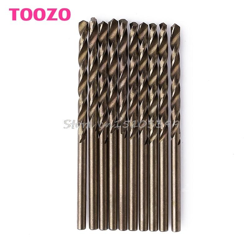 10Pcs/Set 2.5mm M35 Triangle Shank HSS-Co Cobalt Twist Drill Spiral Drill Bit #G205M# Best Quality free shipping of 1pc hss 6542 made cnc full grinded hss taper shank twist drill bit 11 175mm for steel