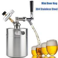 Mini Beer Keg Pressurized Growler for Craft Beer Dispenser System CO2 Adjustable Draft Beer Faucet with Perfect Pour Regulator