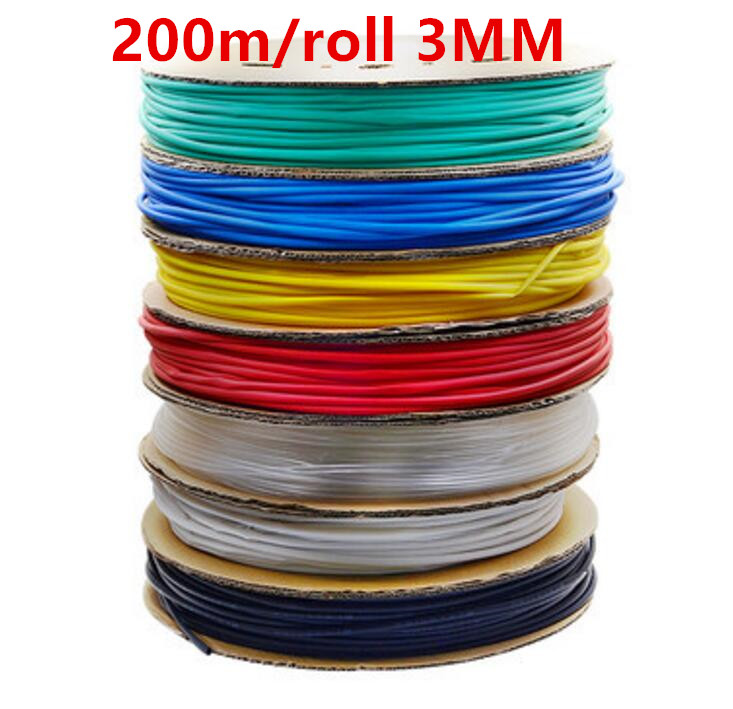 200m/roll 3MM Heat shrinkable tube heat shrink tubing Insulation casing 200m a reel 2816 pcs lepin 23011 technic series off road vehicle model moc assembling building kits block bricks compatible 5360 toy