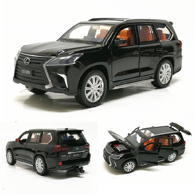 Toy Vehicles Car-Model Pull-Back Diecast Metal Gift Sound-Light Lx570-Alloy Kids 6-Open-Doors
