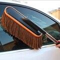 Перетащить автомобильный воск хлопок тряпкой от пыли щетка мойки воск Уборка шваброй алюминиевая телескопическая щетка автомобильных поставок