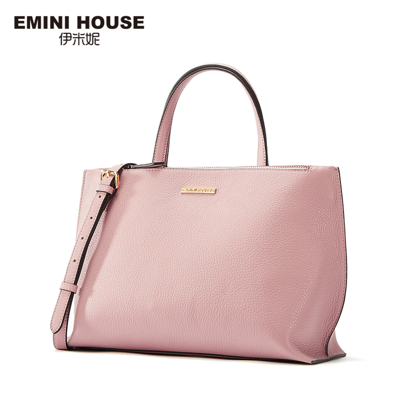 EMINI HOUSE Tote Bag Genuine Leather Women Messenger Bags Shoulder Bag Handbag Women Famous Brands Crossbody Bags For Lady rdywbu brand genuine leather tote handbag 2017 women colourful flowers patchwork shoulder bag plaid messenger crossbody bag b293