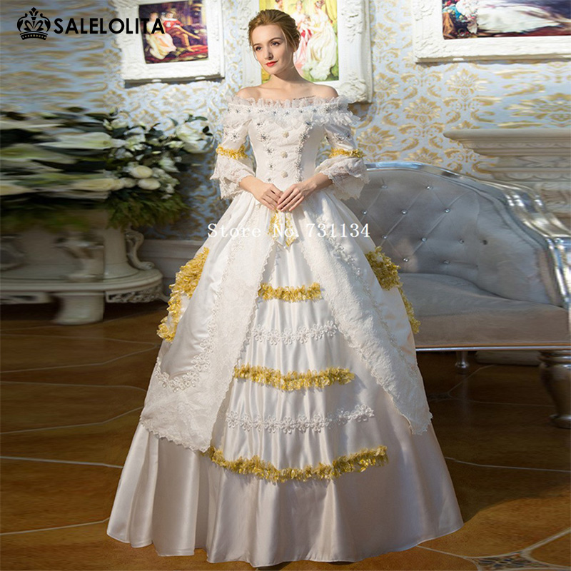 Buy high end court rococo baroque marie for Period style wedding dresses