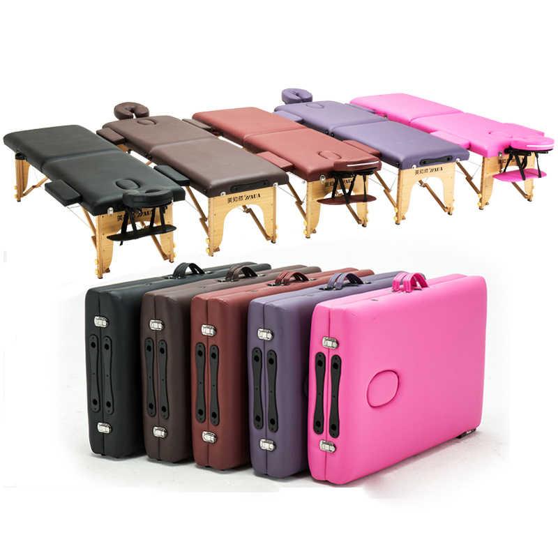 Многофункциональный переносной спа массажные столы складные с сумкой для переноски мебель для салона складная кровать косметический массажный стол
