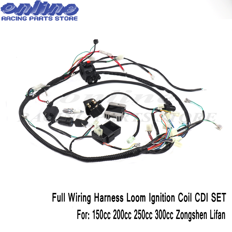 quad wiring harness 150cc 200cc 250cc 300cc chinese electric start - zongshen  200 wiring diagram