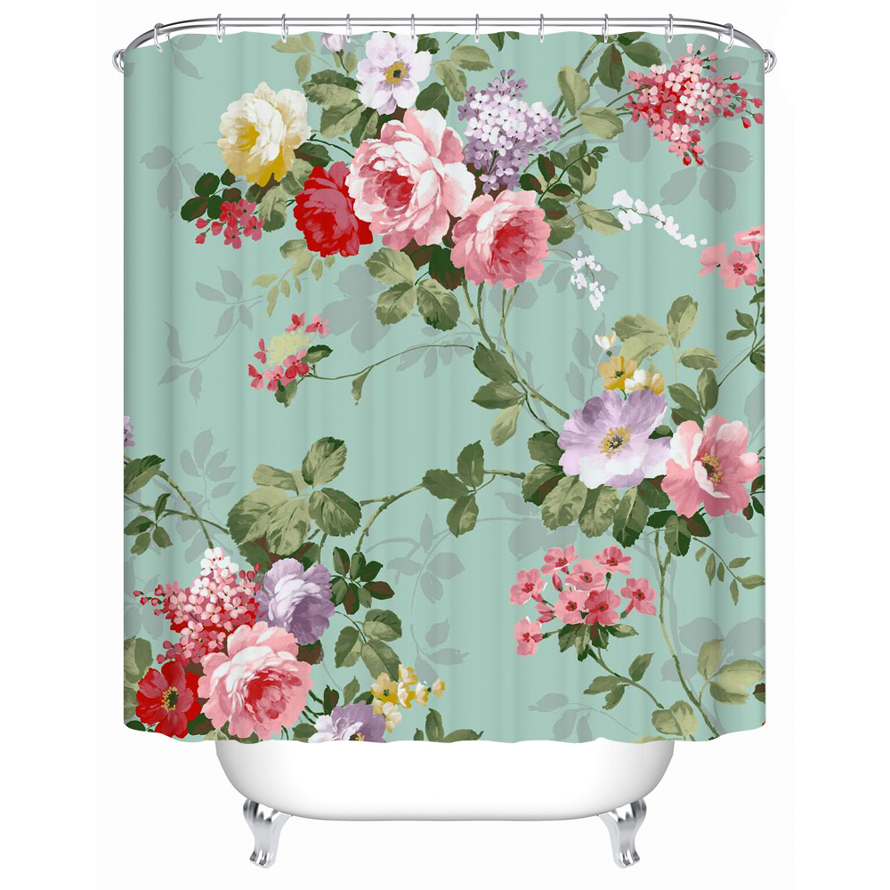Vorhang Blumen Shower Curtains A Variety Of Colors Of Flowers Eco