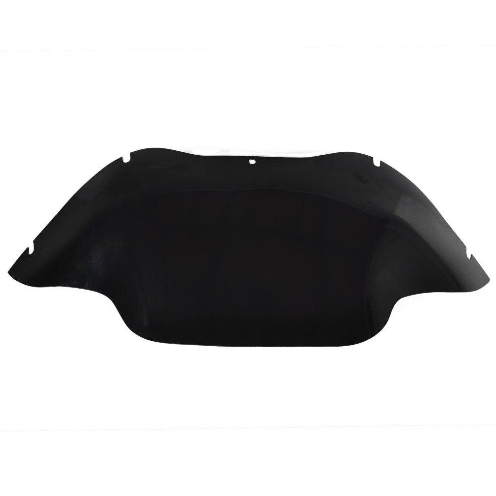 ФОТО 31CM Medium Motorbike Windshield Windscreen for Harley Fltru Road Glide Ultra Black