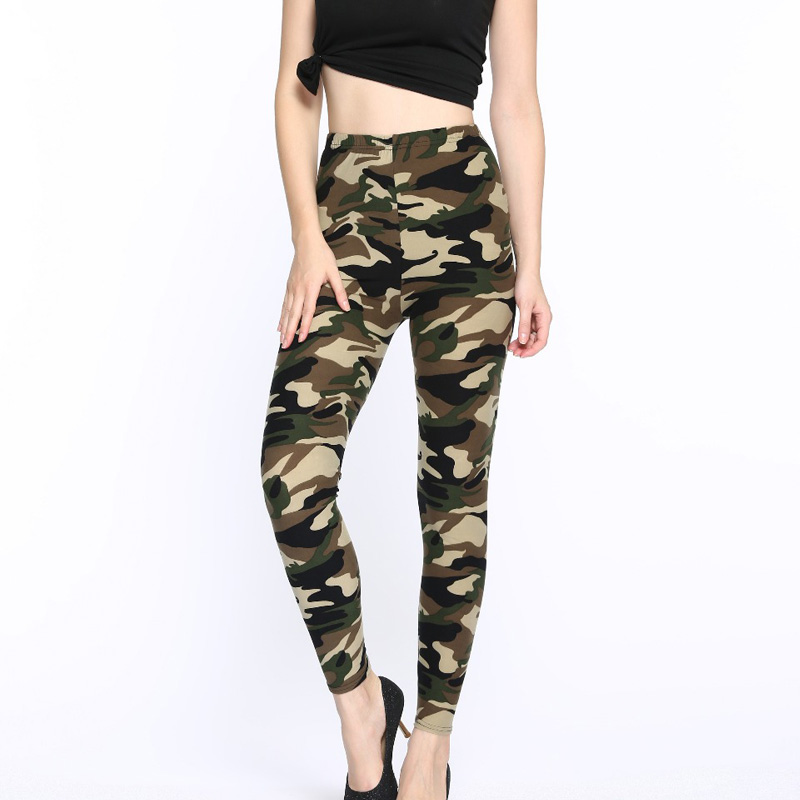 Fitness Leggings Camo: Camo Print Stretched Camouflage Leggings Women Military
