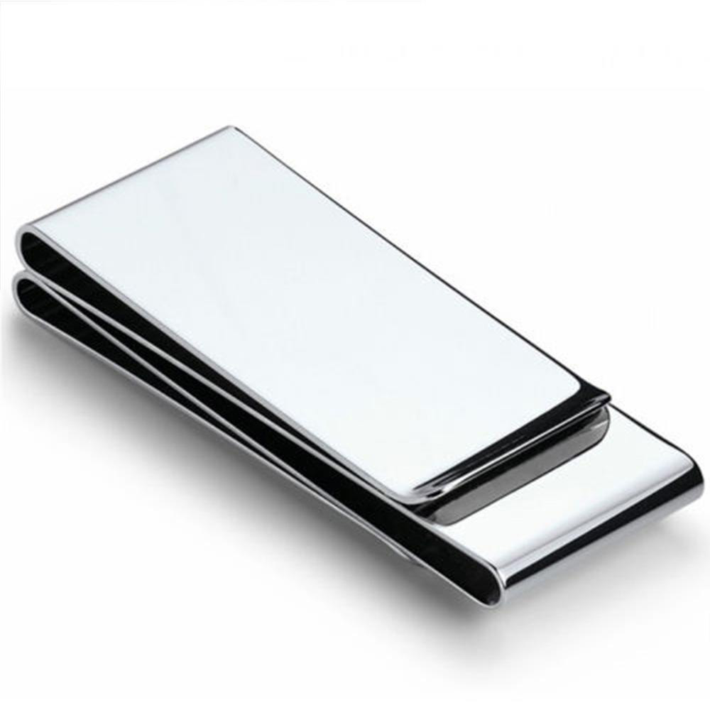 ISKYBOB 2019 Stainless Man Pocket Money Clip Dollar Metal Clamp Card Clips Credit Cards Money Holder