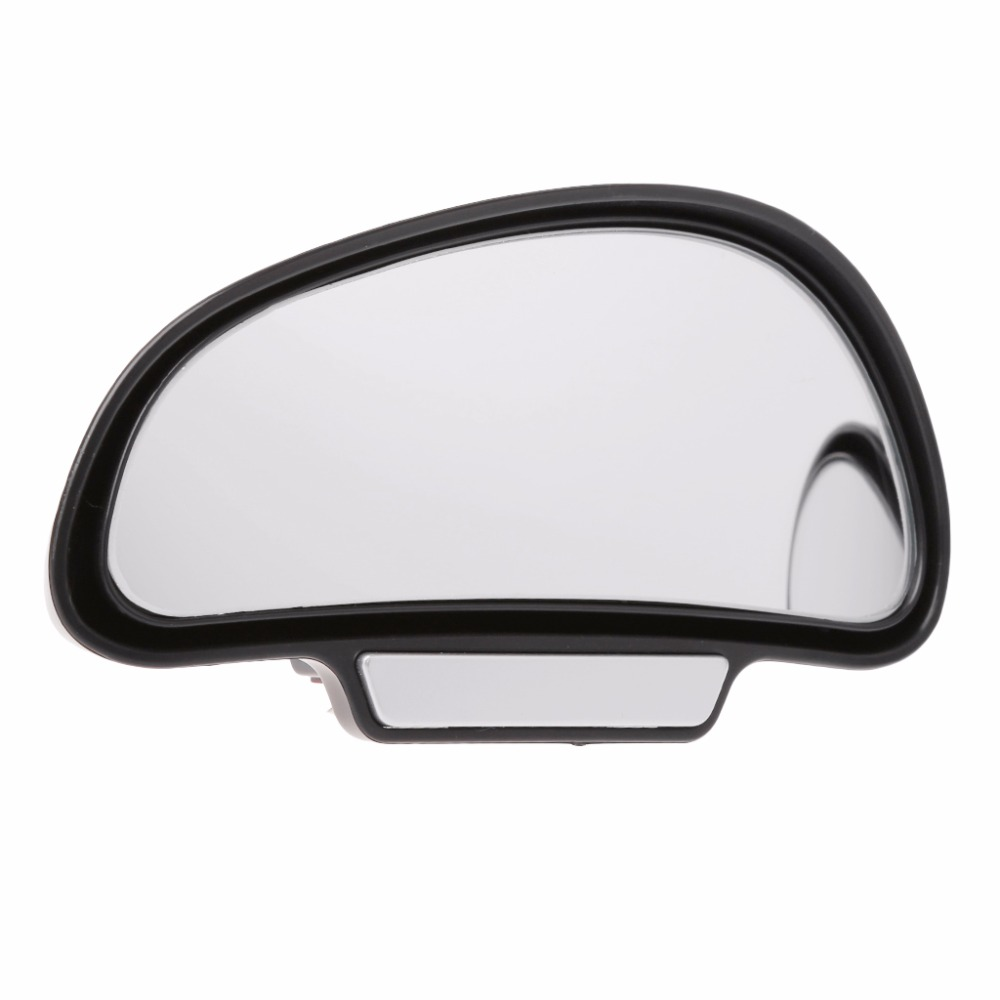 Silver Universal Auto Side Blind Spot Mirror Wide Angle View Safety