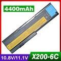 4400mAh laptop batterie für LENOVO X201 X200 X201 3323 X200s 42T4834 42T4835 43R9254 42T4537 42T4539 42T4541 42T4543 42T4536-in Laptop-Akkus aus Computer und Büro bei
