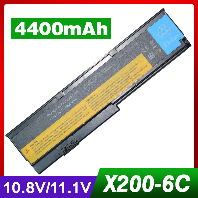 4400mAh Laptop Battery For LENOVO X201 X200 X201-3323 X200s 42T4834 42T4835 43R9254 42T4537 42T4539 42T4541 42T4543 42T4536