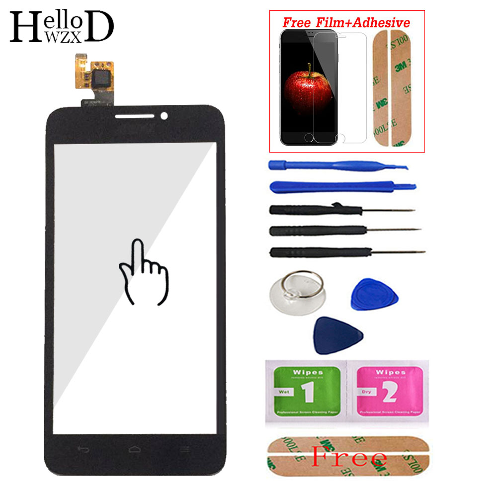 For Huawei G630 G 630 Touch Screen Front Outer Glass Digitizer Panel Lens Sensor Touchscreen Adhesive + Screen Protector Gift