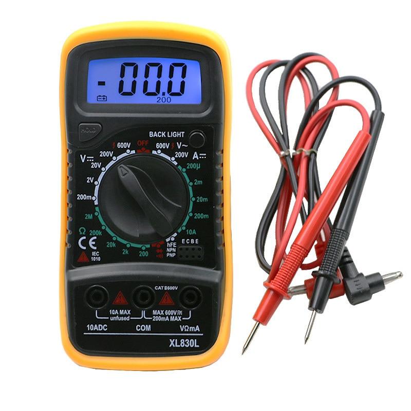 Digital Handheld Tester Meter LCD Multimeter Voltmeter Ammeter AC DC Ohmmeter Volt Tester Current Multitester Blue Backlight цена