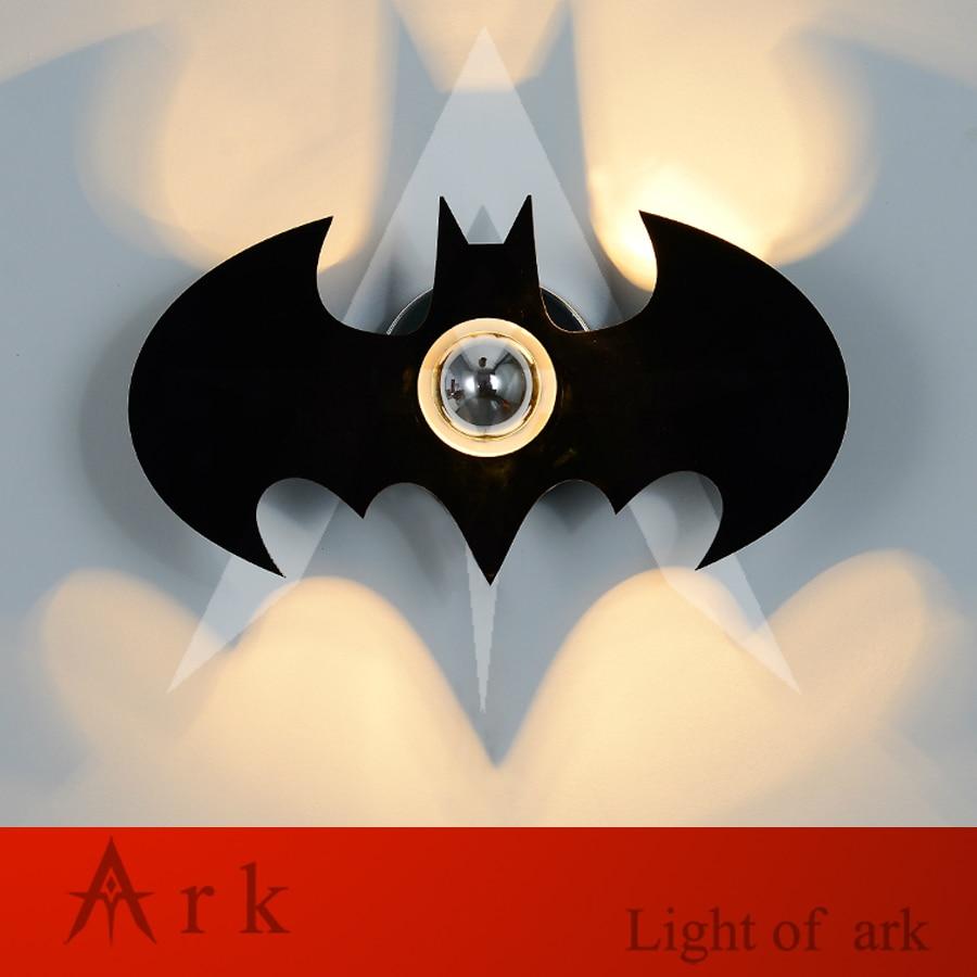 ark light new design acrylic black or white bat shape design wall lamp black crossed front design v neck bat sleeves blouses