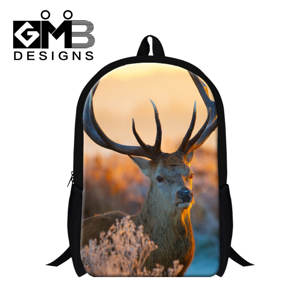 Cool Elk Design school backpack for children,christmas gift bookbags for boys&girls,mens stylish lightweight womens back packs