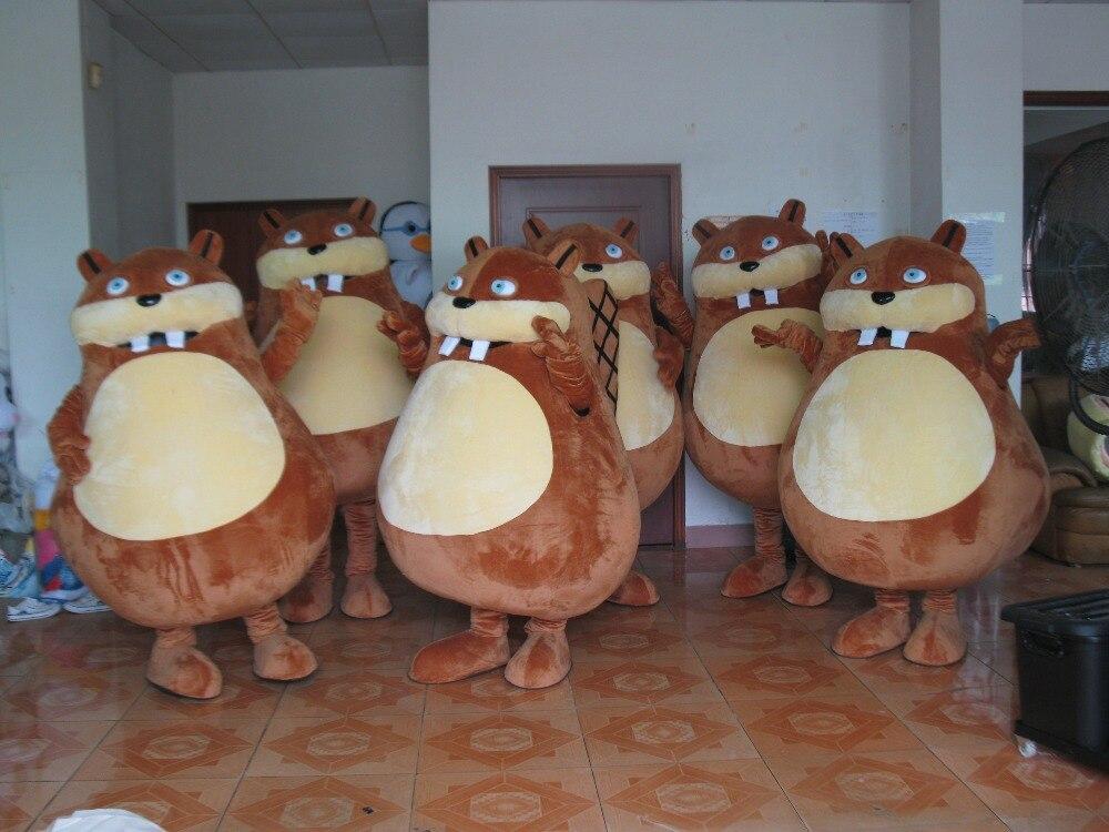 Vente chaude 2018 adulte personnage de dessin animé belle souris marron mascotte Costume déguisements costumes de fête