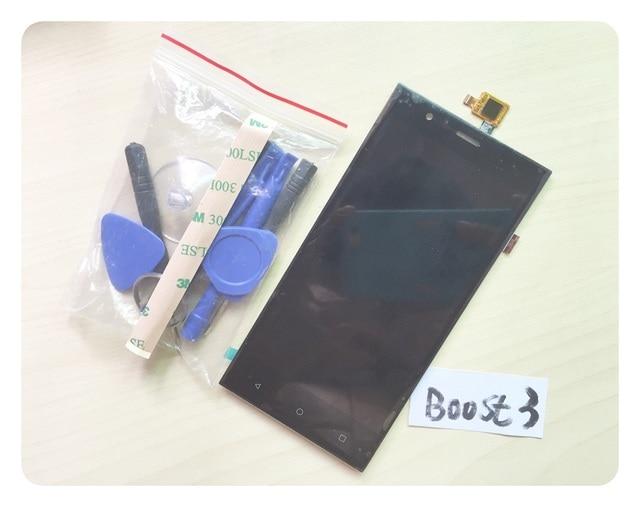 """5 """"negro Sesnor Para Highscreen Boost 3/Boost 3 pro Montaje de la Pantalla LCD Display + Digitalizador de Pantalla Táctil + 3 M etiqueta"""