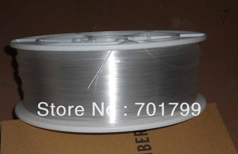 one roll PMMA optic fiber for lighting;clear color;inner Dia(mm):0.75mm;Outer Dia(mm):0.75mm;2700m/roll;P/N:EK-75