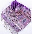 Мода Фиолетовый женщин Silk Пашмины Шали Шарф Обруча пчелы цветок Бесплатная Доставка Оптовая Торговля Розничная Торговля FF-XMF8