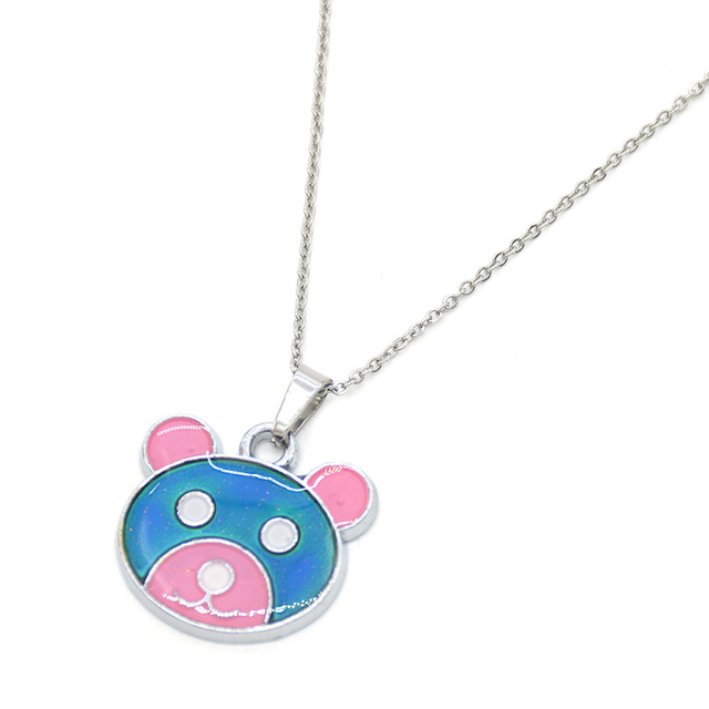 Online shop lychee color change cute animal pendant necklace mood lychee color change cute animal pendant necklace mood emotion changeable necklace jewelry mozeypictures Image collections