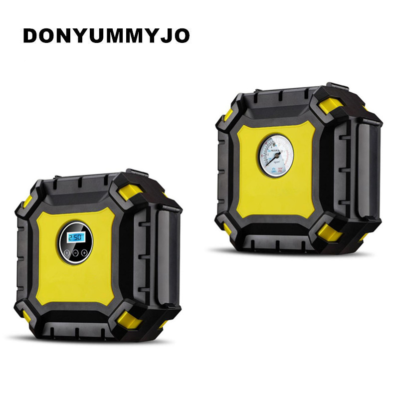 DONYUMMYJO DC 12V Auto Car Tire Inflator 100PSI Car Air Pump 30L/MIN Car Pumps 120W Air Compressor for Car Bicycles Motorcycles цены