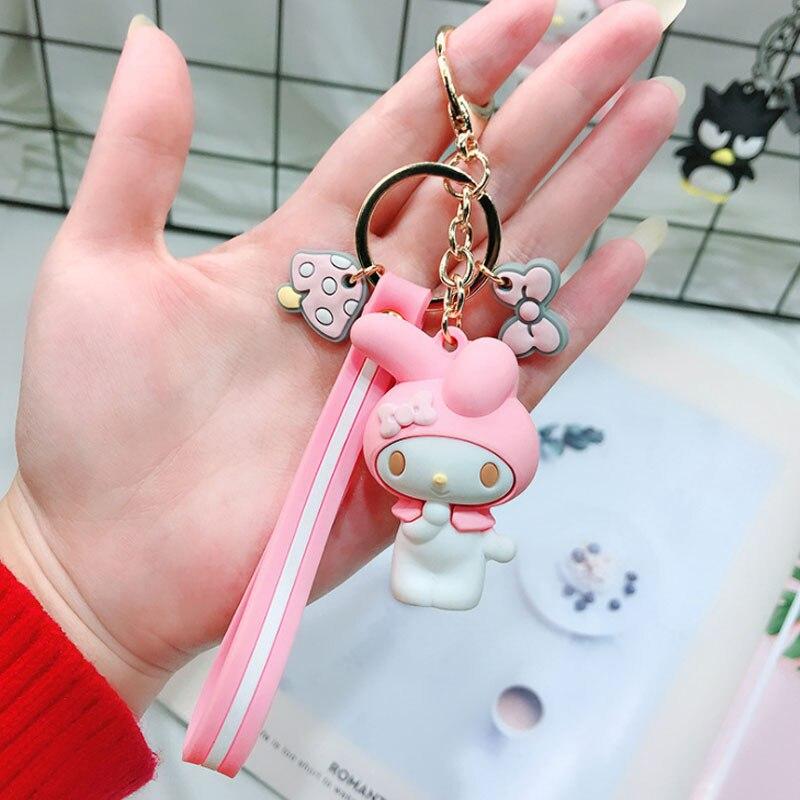 Serie creativa Sanrio My Melody Pudding Cinnamoroll perro llavero bolsa colgante llavero para niñas figura juguetes 20 piezas-in Llaveros from Joyería y accesorios    2