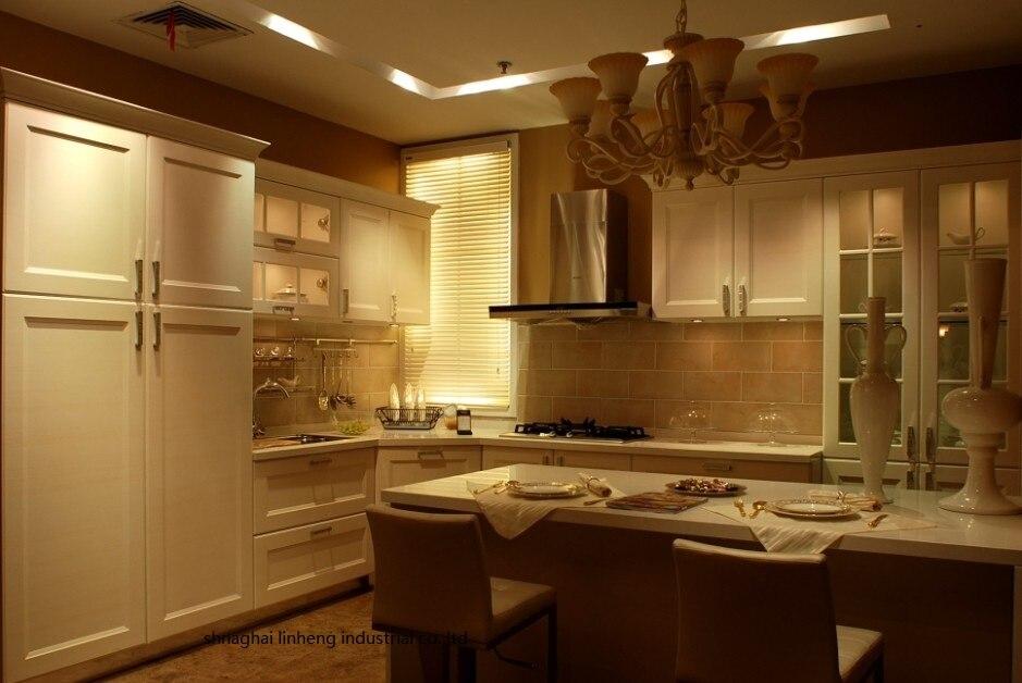 Pvc/винил кухонный шкаф (lh pv039)
