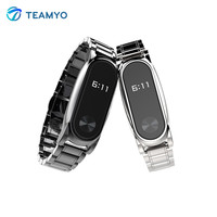 Teamyo Smart Accessories For Xiaomi Mi Band 2 Wristband Mi Band 2 Strap Stainless Steel Bracelet