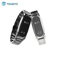 Teamyo Smart Accessories For Xiaomi Mi Band 2 Wristband Mi Band 2 Strap Stainless Steel Bracelet