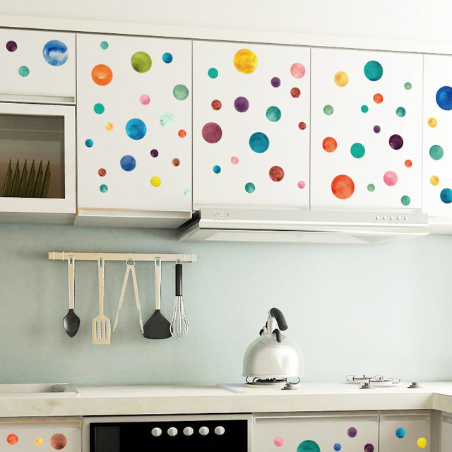 Color Circle Wall Stickers Bedroom Kids Rooms Entrance