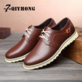 QIYHONG Brand 2016 Autumn New Fashion Men'S Casual Large Size Breathable Simple High-Quality Men'S Leather Shoes