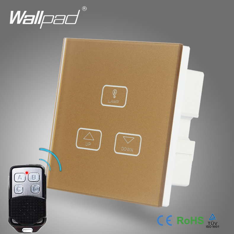High End 3 Gang Remote Dimmer Switch Wallpad Gold Glass Switch Led 3 ...