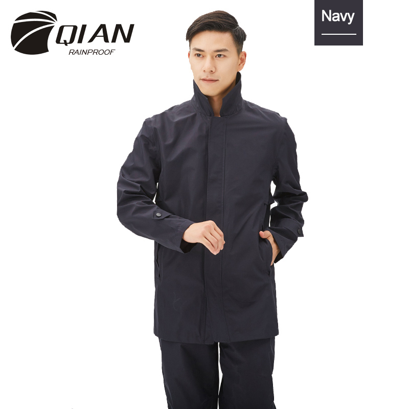 QIAN RAINPROOF Impermeable Waterproof Rain Jacket Outdoor Raincoat Woman/Man Hiking Camping Rain Coat Rainwear Rain Gear