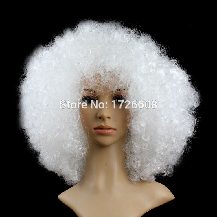 Short Peruke Afro Wigs Halloween Party Dress Funny Clown Wig Props Large  Popcorn Party Hats Festival Cosplay Synthetic Hair Wig-in Party Hats from  Home ... 505590d12