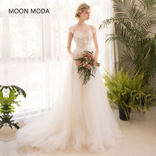 Half Sleeve Long Lace Wedding Dress