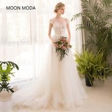Longo meia manga lace vestido de noiva high-end 2018 noiva simples vestido de noiva real foto weddingdress vestido de noiva boho sereia