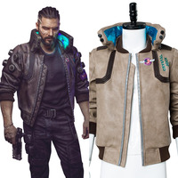 2018 Game Cyberpunk 2077 Cosplay Costume Faux Leather Jacket Coat Casual Suit For Adults Men Women