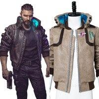 2077 игры Cyberpunk 2018 косплэй костюм искусственная кожа куртка Пальто Повседневное для взрослых для мужчин женщин