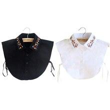 False Collar Vintage Detachable Collar Lapel Blouse Top Shirt Fake Collar Embroidery Tie Women Clothes Accessories