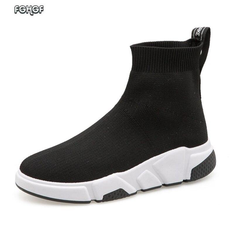 Kopen Goedkoop Zwart Casual Sneakers Vrouwen Hoge Top