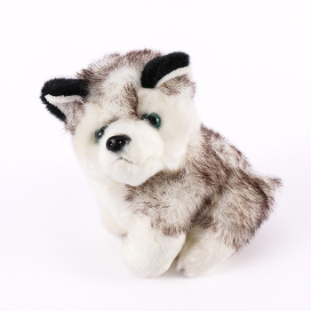 Kawaii Puppy Stuffed Toys 18 CM Cute Simulation Husky Dog Plush Toys Stuffed Doll Kids Baby Toys Plush Husky Dolls