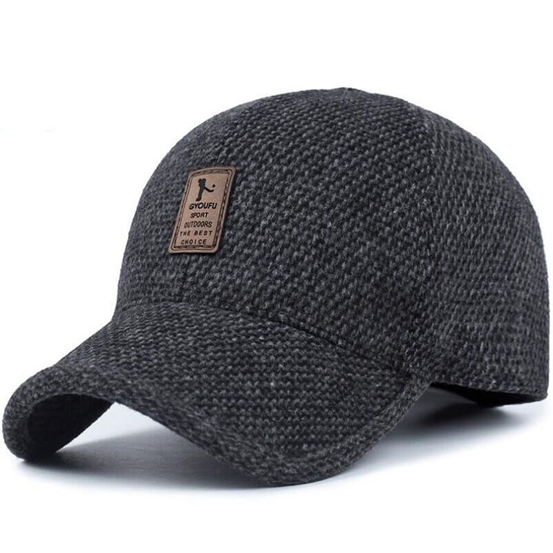 BING YUAN HAO XUAN 2018 Winter   Baseball     Cap   Men Snapback Hat with Earmuffs Casquette Homme Trucker   Cap   Mens Hats Winter