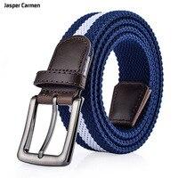 Jasper Carmen Brand Belts Male Young Needle Buckle Elastic Stretch Braided Belt Men And Women Pants