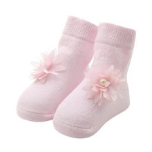 Baby Kids Girls Comfortable Floral Cute Cotton Sock Slippers Warm Ankle Socks 0-12M baby girl socks best gift(China)