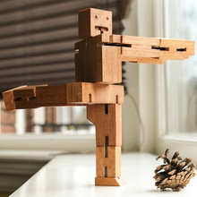 Neuheiten Holzwürfel Roboter Creative Magie DIY Montage Puzzle Bildungs Gehirn Teaser Spielzeug für Kinder Und Freunde