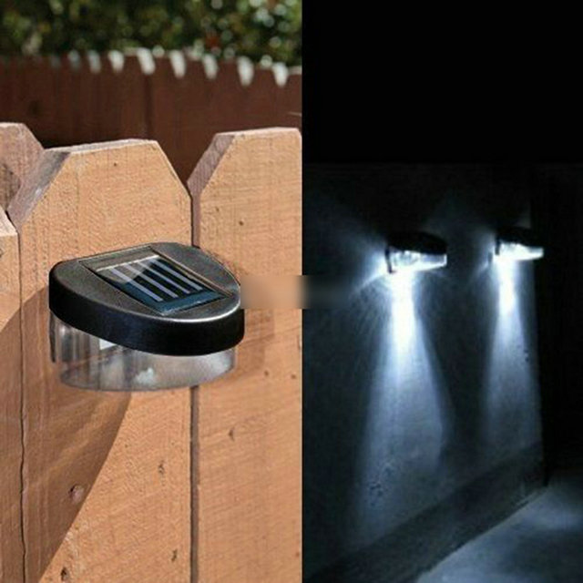 Garden Path Wall Fence Lawn Lights Outdoor Solar Powered Power LED ...